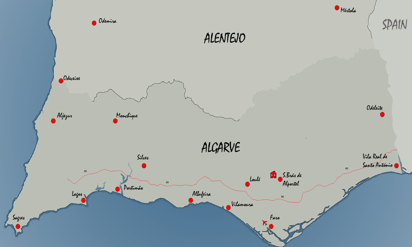 Algarve and Alentejo MAP